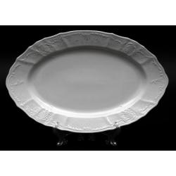 Блюдо овальное 34 см «Бернадот Платина 2021»