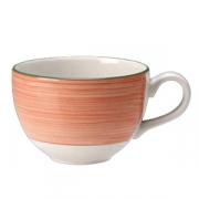 Чашка чайная «Рио Пинк», фарфор, 340мл, белый,розов.