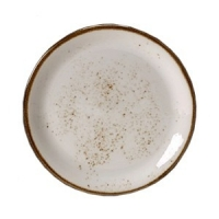 Тарелка мелкая «Крафт», фарфор, D=20.3см, белый
