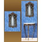 Зеркало золотистый 83х43 см.