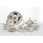 Сервиз чайный 210 мл. на 12 перс. 54 пред. «Кленовый лист белый»