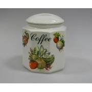 Банка для сып. продуктов с крышкой «Овощи» (чай, кофе, сахар), h=16 см
