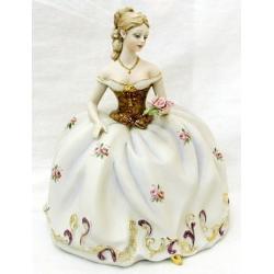Статуэтка «Девушка с розами» (цветная), 27 см