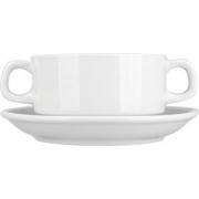 Бульонная чашка «Коллаж» D=10см; белый