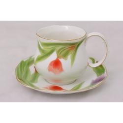 Чашка с блюдцем «Тюльпаны» 0.25 л