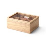 Ящик для хранения чайных пакетиков Continenta 23 x 17,7 x 11см древесина гевеи (бежевый)
