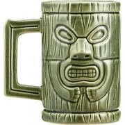 Кружка пивная «Тики» керамика; 450мл; зелен.