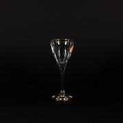 Набор 6 бокалов для ликера 70мл «Фьюжн» с золотом