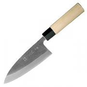 Нож дэба для разделки рыбы; дерево; L=350/210,B=55мм; металлич.,бежев.