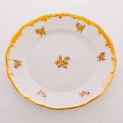 Набор тарелок 17 см. 6 шт. «Роза золотая»