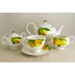 Чайный сервиз из 15 предметов на 6 персон «Лимоны»