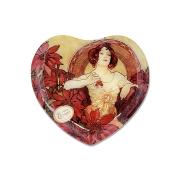 Тарелка в форме сердца Рубин (А. Муха)