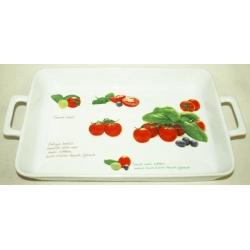 Блюдо прямоугольное с ручками «Помидоры» 32х21 см
