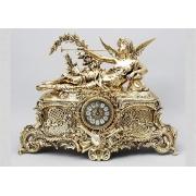 Часы - «Муза» золотистый 64х47 см.