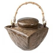 Чайник «Кунстверк», керамика, 500мл, H=13,L=17,B=17см, зелен.