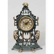 Часы половинки «амуры» цвет - синий 32х21см