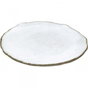 Тарелка бетон D=20см; белый, серый