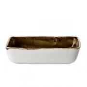 Блюдо для запек.прям. «Крафт», фарфор, 500мл, L=16.5,B=12.3см, коричнев.