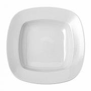Блюдо для пасты квадратное «Олива», фарфор, 580мл, H=5,L=27,B=27см, белый