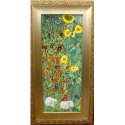 Картина «Сад с подсолнухами» 46,5х24,5 см, фарфор, серия Klimt. Подарочная упаковка