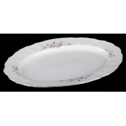Блюдо овальное 36 см «Роза серая 5396011»