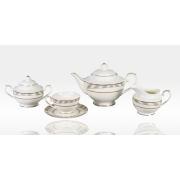 Сервиз чайный «Серые полоски» 17 предметов на 6 персон