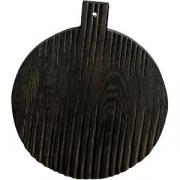 Доска для подачи круглая с ручкой «Мороз» темный дуб
