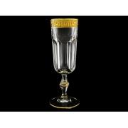 Набор бокалов для шампанского 6 шт с золотом
