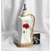 Бутылка для уксуса в плетенном держателе 27,5см «Россана»