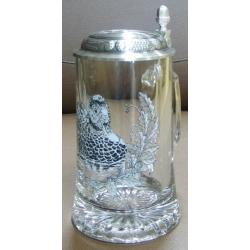 Пивная кружка стеклянная «Утка», 0.5 л