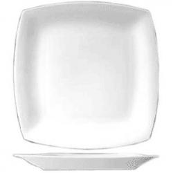 Тарелка мелкая квадр. 20см фарфор