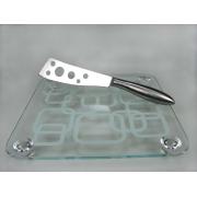 Набор для сыра 2 пр доска квадратная нож