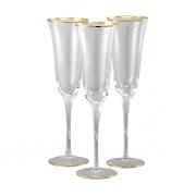 Бокал для шампанского 6 шт Сабина - золото