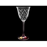 Бокал для вина Флора, Розовый горошек