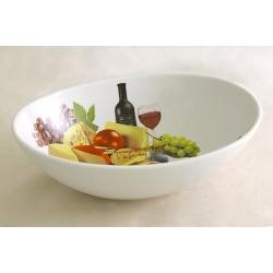 Салатник овальный «Сыр, вино и виноград»