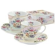 Набор: 2 чашки + 2 блюдца Восточный сад в подарочной упаковке