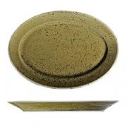 Блюдо овал. «Кантри Стайл», фарфор, H=15,L=320,B=210мм, зелен.