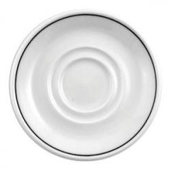 Блюдце «Блэк лайн» d=11.75см фарфор