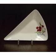 Блюдо треугольное S «Фрукты айвори»