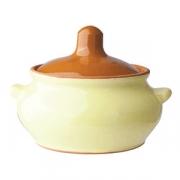 Горшок для запекания «Грибок», керамика, 400мл, D=130,H=95мм, желт.,коричнев.