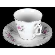 Набор для чая на 6 перс. 12 пред. выс н/н «Роза серая платина 5396021»