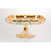 Тортница «Хрусталь с золотом 6914 ХР-Л» 26 см.