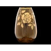 Ваза коричневая 25см «золотая роза»