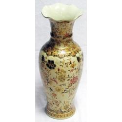 Бежевая ваза с золотом 61 см. Керамика