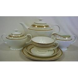 Чайный сервиз «Луиза Голд» 40 предметов на 12 персон