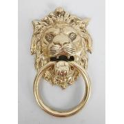 Ручка дверная «Лев» сред. золотистый