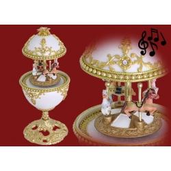 Декоративное музыкально яйцо «Карусель»