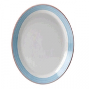 Блюдо овальное «Рио Блю», фарфор, L=31,B=24см, белый,синий