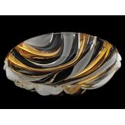 Салатник круглый 33,6 см BAMBOO золотой мат
