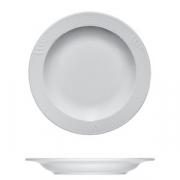 Тарелка мелкая «Карат», фарфор, D=20,H=2см, белый